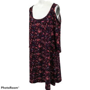Mudd Cold Shoulder Floral Tunic Size M
